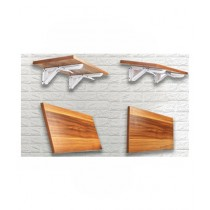 Easy Shop Multi Functional Wooden Wall Shelf For Kitchen