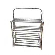 Easy Shop Stainless Steel 4 Floor Shoe Rack