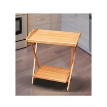Easy Shop Wooden Two Flappers Tea Trolley (0459)