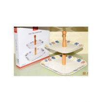 Easy Shop 2 Tier Cake Or Pastry Stand For Serving (0348)