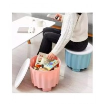 Easy Shop 2in1 Plastic Storage Organizer Box And Stool