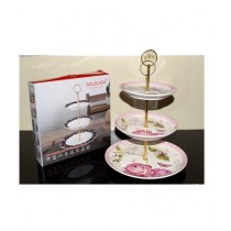 Easy Shop 3 Dish Cake And Pastry Stand