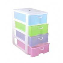 Easy Shop 4 Portable Storage Drawers Multicolor