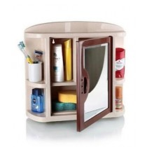 Easy Shop 4 Portion Washroom Cabinet With Attached Mirror
