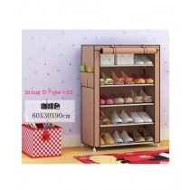 Easy Shop 5 Floor Steel Shoe Rack With Foldable Cloth