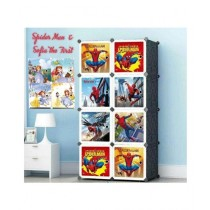 Easy Shop 8 Boxes Spider Man Cubes Cupboard For Kids