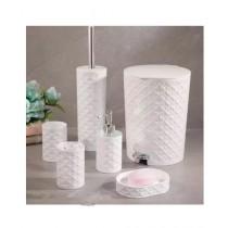 Easy Shop Ceramic Bathroom Set Of 6 - Silver