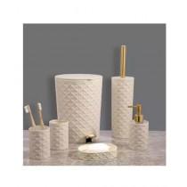 Easy Shop Ceramic Bathroom Set Of 6 - Golden