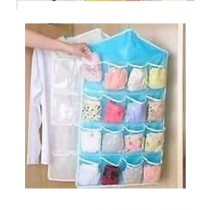 Easy Shop Candy Color Wardrobe Wall Mounted 16 Grid Storage Bag