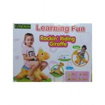 Easy Shop Evergreen Learning Fun Rocking Riding Giraffe For Kids (0162)