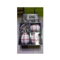 Easy Shop Fancy Ceramic Bath Set Of 4 - Red Line