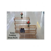 Easy Shop Foldable Wooden Shoe Rack In 3 Or 4 Layer (0354)