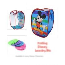 Easy Shop Folding Disney Laundry Basket & Toy Basket For Kids (0152)