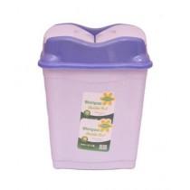 Easy Shop Large Plastic Dustbin Purpel