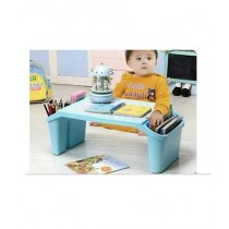 Easy Shop Plastic Learning And Eating Table For Kids Blue