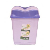Easy Shop Small Plastic Dustbin Purpel