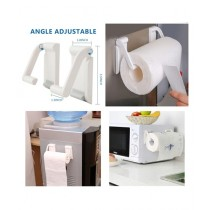 Easy Shop Tissue Roll Holder With Adjustable Angle White