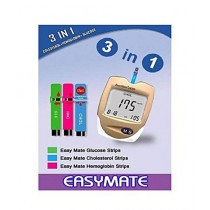 EasyMate 3-In-1 Glucose Cholesterol Hemoglobin Meter