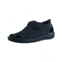 EBH Fashion Leather Sandal For Men Black (1B-031)