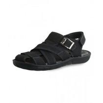 EBH Fashion Leather Sandal For Men Black (1B-035)