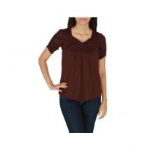 Element Jeans Cotton Cross Over Tunic Dark Brown (12210070611)