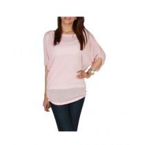 Element Jeans Cotton Plain Knit Over Tunic Pink (11320071411)