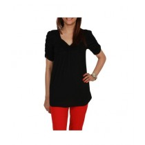 Element Jeans Cotton Tunic With Pleats On Front Black (12210070211)