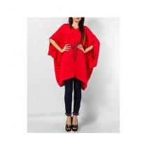 Element Jeans Cotton V Neck Stylish Pengin Tunic Red (120031171711)