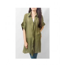 Element Jeans Georgette Classic Style Tunic Olive Green (12170074111)