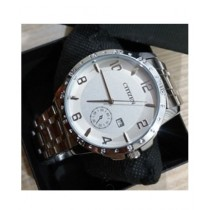 Eloxee Analog Watch For Men Silver (0015)