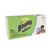 Bounty Quilted Napkins 2X Stronger White 100 CT