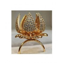 Eshall Gold Plated Flower Ring For Women