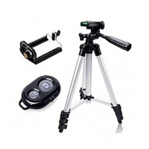 eShop Foldable Aluminium Alloy Phone Tripod With Wireless Bluetooth (DK 3888)