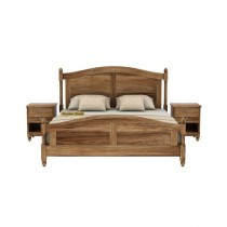 EShop Sheesham Wood Double Bed (0012)