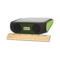 Eton Rugged Rukus solar-powered Bluetooth Charger Speaker Green (NRKS200GR)