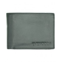 Evenodd Plain Leather Wallet For Men Grey (MAW18051)