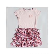 Expostore Bottom Design Frock For Girls Pink (C-1-17)