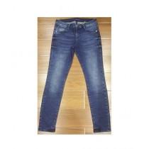 Faiz & Sons Super Stretch Denim Jeans For Women - Medium Blue (FL-02)