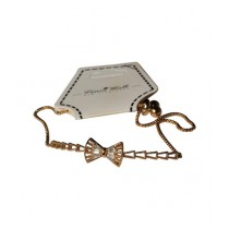 Fanci Mall Bow Chain Bracelet Golden (BR034)