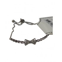 Fanci Mall Bow Chain Bracelet Silver (BR034)
