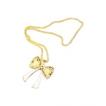 Fanci Mall Golden Bow Necklace (NL014)
