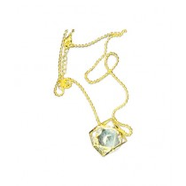 Fanci Mall Golden Dice With Stone Inside Necklace (NL006)