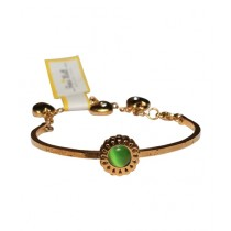Fanci Mall Green Stone Bracelet For Women (BR044)
