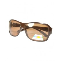 Fanci Mall Rectangular Sunglasses For Women Brown (WS015)