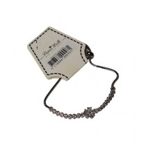 Fanci Mall Stone Chain with Center Stone Flower Bracelet (BR032)