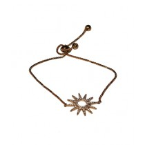 Fanci Mall Stone Flower Bracelet Golden (BR027)