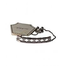 Fanci Mall Track Bracelet For Women Silver (BR025)