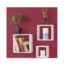 Fashion Nova Mart Decorative Wall Shelf White