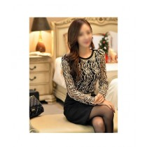 Fashion Style Tops For Women Black & Golden