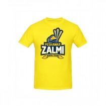 Sale Out PSL Peshawar Zalmi Half Sleeves T-Shirt Yellow